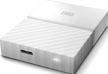 Внешний жёсткий диск Western Digital My Passport 4TB (White) (WDBUAX0040BWT-EEUE)