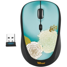Мышь Trust Yvi Flower Blue USB
