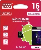 Карта памяти GoodRAM MicroSDHC 16GB UHS-I Class 10 A1 for Android