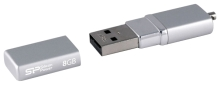 USB Flash Silicon Power LuxMini 710 Silver 8Gb