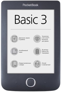 Электронная книга PocketBook 614 Basic 3 (Black)