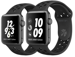 Apple Watch Series 3 42mm Aluminum Case with Nike Sport Band (Grey Space with Anthracite/Black)