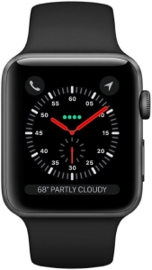 Умные часы Apple Watch Series 3 38mm Aluminum Case with Sport Band (Space Grey/Black)