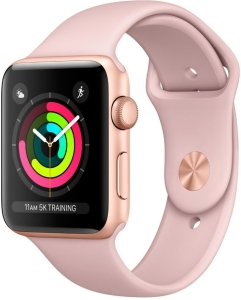 Умные часы Apple Watch Series 3 38mm Aluminum Case with Sport Band (Rose Gold)