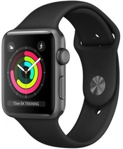 Apple Watch Series 3 38mm Aluminum Case with Sport Band (Space Grey/Grey)