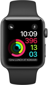 Apple Watch Series 3 42mm Aluminum Case with Sport Band (Grey Space/Black)
