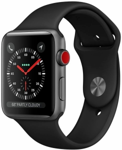 Умные часы Apple Watch Series 3 LTE 38mm (Space Gray Aluminum Case with Black Sport Band)