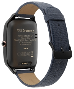 Умные часы Asus ZenWatch 2 WI501Q Gunmetal case/Blue Leather band