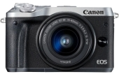 Цифровая фотокамера Canon EOS M6 Kit EF-M 15-45mm f/3.5-6.3 IS STM (Silver)