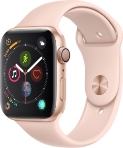 Умные часы Apple Watch Series 4 Sport 44mm Gold Aluminum Case with Pink Sand Sport Band