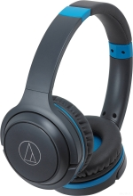Наушники Audio-Technica ATH-S200BT (серый/синий)