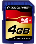 Карта памяти Silicon Power SDHC Card Class 10 4Gb