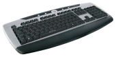 Клавиатура Oklick 370 M Multimedia Keyboard Black-Silver USB+PS/2