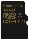 Карта памяти Kingston microSDHC UHS-I U1 (Class 10) 16GB