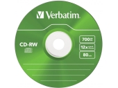 CD±RW VERBATIM 700Mb 12x speed (43167/43148)