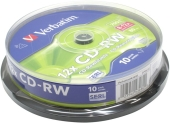 CD±RW VERBATIM 700Mb 12x speed на шпинделе (10 шт) (43480)